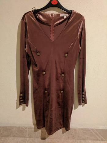Foto Carousel Producto: Vestido rosa gold GoTrendier