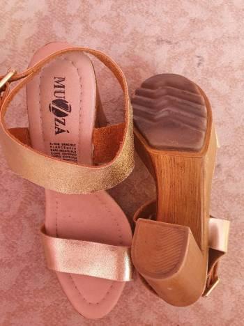 Foto Carousel Producto: Sandalias altas de piel ✅  GoTrendier