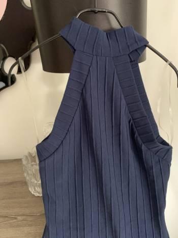 Foto Carousel Producto: Vestido sin hombros azul GoTrendier
