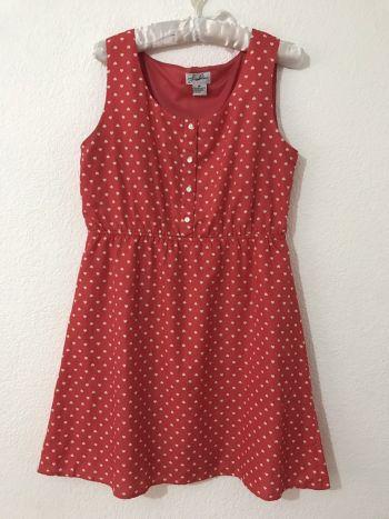 Foto Carousel Producto: Vestido color coral con corazoncitos GoTrendier