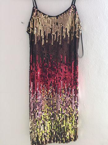 Foto Carousel Producto: Vestido de colores lentejuelas GoTrendier