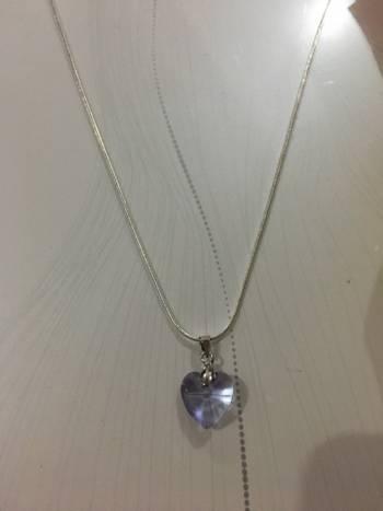 Foto Carousel Producto: Collar corazon lila  GoTrendier