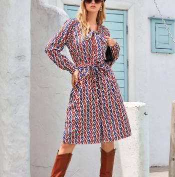 Foto Carousel Producto: Vestido Largo Estampado GoTrendier