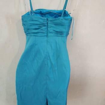 Foto Carousel Producto: Elegante vestido azul turquesa brillante GoTrendier
