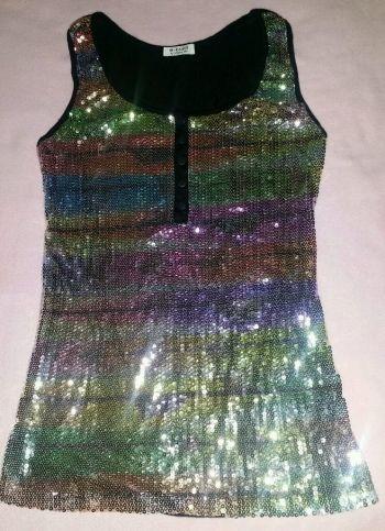 Foto Carousel Producto: Blusa de lentejuelas multicolor  GoTrendier