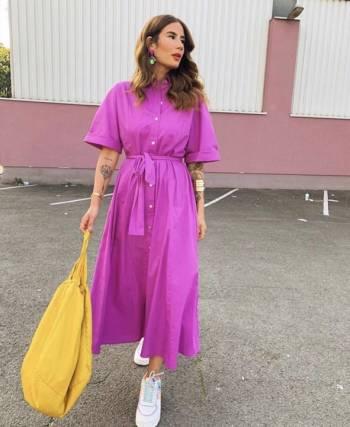 Foto Carousel Producto: Vestido camisero popelín APARTADO GoTrendier