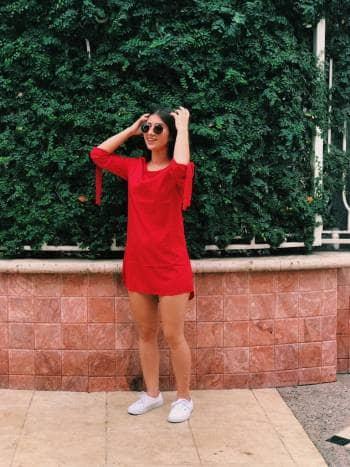 Foto Carousel Producto: Vestido bata rojo GoTrendier