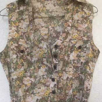 Foto Carousel Producto: Blusa larga con cinturon de flores  GoTrendier
