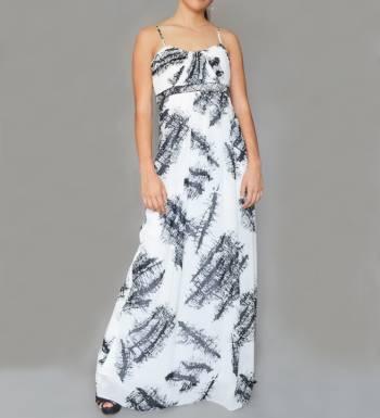 Foto Carousel Producto: Vestido blanco y negro estampado GoTrendier