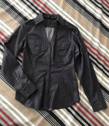 Foto Carousel Producto: Camisa parece mezclilla pero es algodon GoTrendier