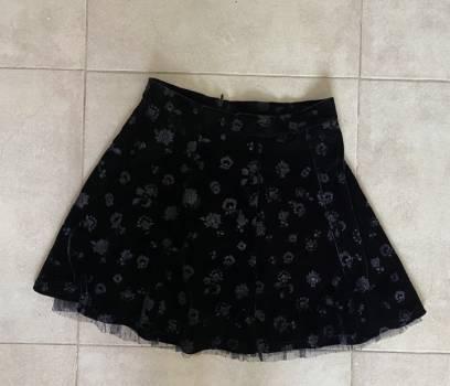 Foto Carousel Producto: Falda circular de terciopelo Bershka GoTrendier
