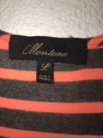 Foto Carousel Producto: Vestido playero rayas gris y naranja GoTrendier