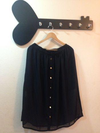 Foto Carousel Producto: Falda transparente negra 2x1 GoTrendier