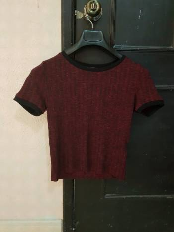 Foto Carousel Producto: Blusa roja con negro GoTrendier