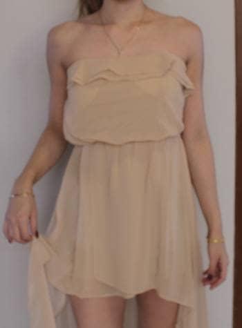 Foto Carousel Producto: Vestido nude corto/largo GoTrendier