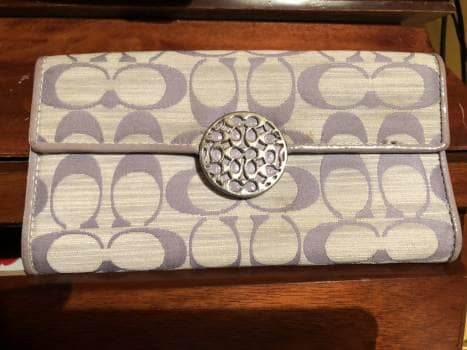 Foto Carousel Producto: Cartera Coach gris perla GoTrendier