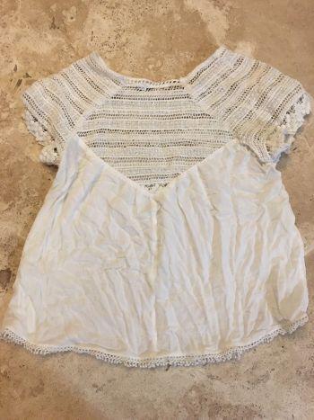 Foto Carousel Producto: Blusa blanca bershka GoTrendier