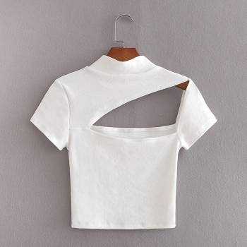 Foto Carousel Producto: Blusa corta o  croptop asimétrica GoTrendier