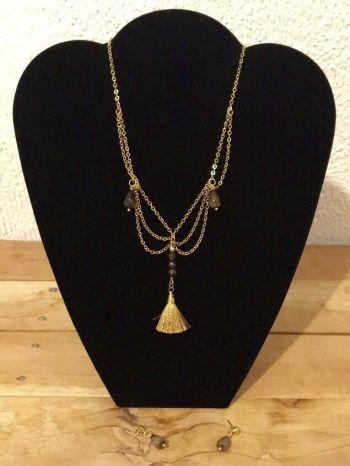 Foto Carousel Producto: Collar aretes de piedras GoTrendier