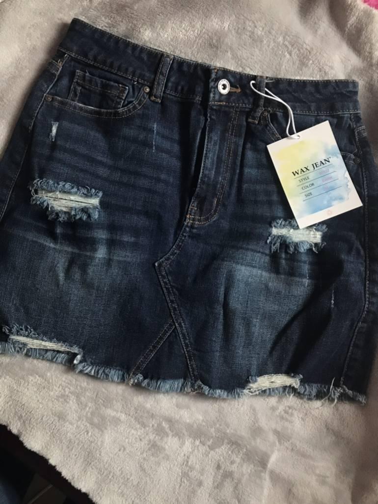 Falda Wax Jeans Nueva Con Etiqueta De Segunda Mano Gotrendier