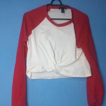Foto Carousel Producto: Blusa blanca con rojo GoTrendier