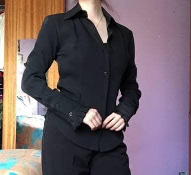 Foto Carousel Producto: Camisa negra marca Spaghetti tela importada GoTrendier