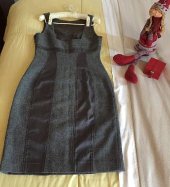 Foto Carousel Producto: Vestido Gris elegante  GoTrendier