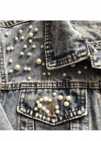 Foto Carousel Producto: Chamarra de mezclilla con perlitas GoTrendier