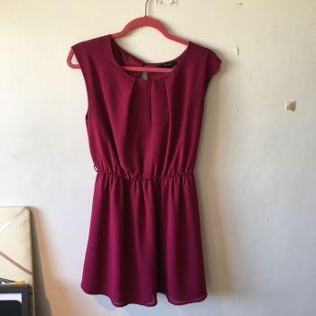 Foto Carousel Producto: Vestido Corto Rojo/Vino GoTrendier