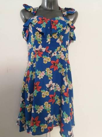 Foto Carousel Producto: #001 Vestido azul flores Bebop GoTrendier