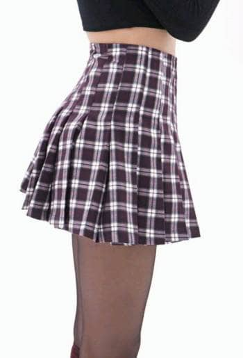 Foto Carousel Producto: Pleated plaid mini skirt GoTrendier