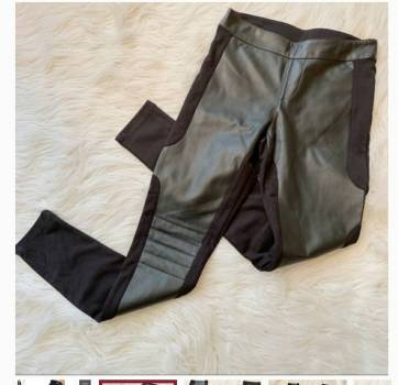 Foto Carousel Producto: Legging de punto/polipiel GoTrendier