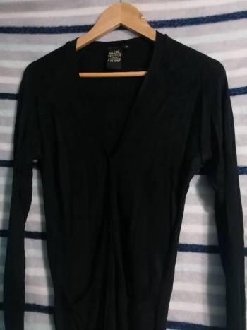 Foto Carousel Producto: Sueter delgado  y ligero color negro GoTrendier