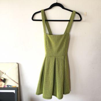 Foto Carousel Producto: Vestido Verde & Negro Tablones GoTrendier