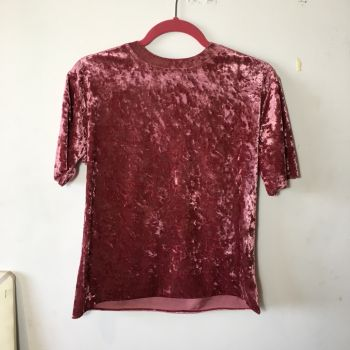 Foto Carousel Producto: Camiseta Velvet Rosa GoTrendier
