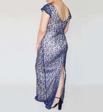 Foto Carousel Producto: Vestido encaje azul marino  GoTrendier
