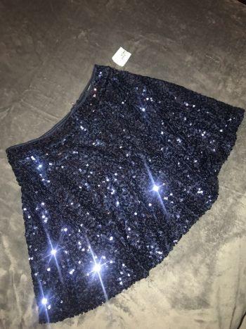 Foto Carousel Producto: Falda de lentejuelas Azul marino M GoTrendier