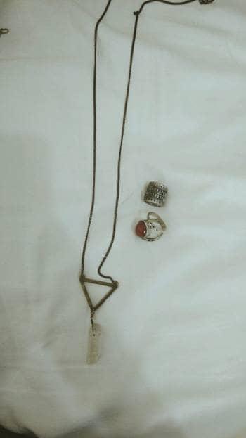 Foto Carousel Producto: Collar y dos anillos GoTrendier