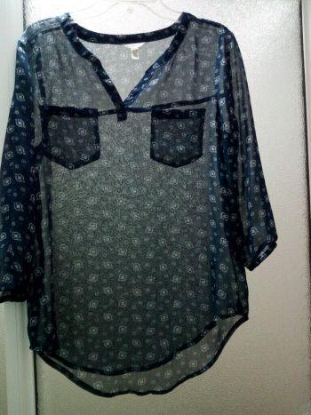 Foto Carousel Producto: Blusa de manga 3/4 azul GoTrendier