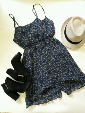 Foto Carousel Producto: Vestido corto  de tirantes ¡NUEVO! GoTrendier