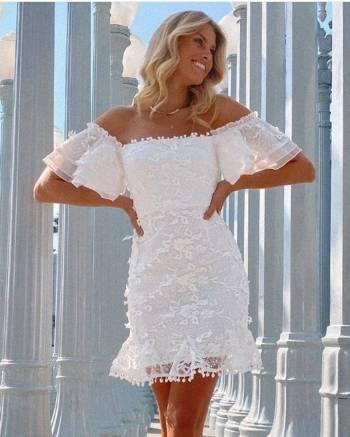 Foto Carousel Producto: Vestido Tejido Off Shoulder GoTrendier