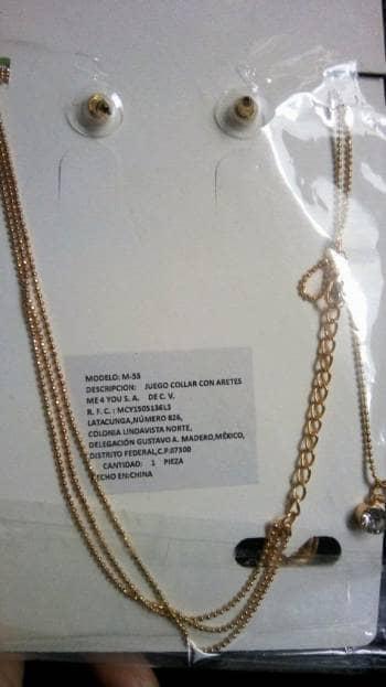 Foto Carousel Producto: Collar y aretes de Manzana  GoTrendier