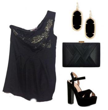 Foto Carousel Producto: Vestido de fiesta elegante negro con lentejuela GoTrendier