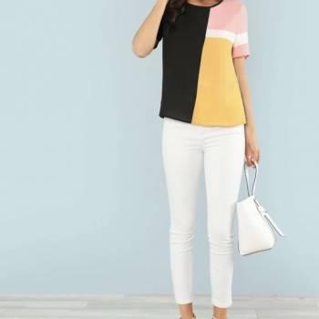 Foto Carousel Producto: Pack Blusas Bloques colores Shein GoTrendier