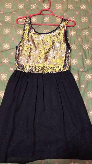 Foto Carousel Producto: Vestido Negro de Lentejuelas GoTrendier