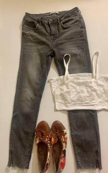 Foto Carousel Producto: Jeans Zara cierres en tobillos  GoTrendier
