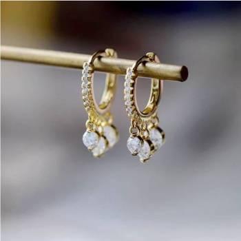 Foto Carousel Producto: Huggies oro laminado y zirconias GoTrendier