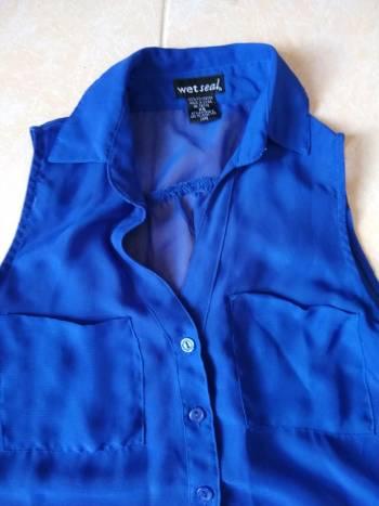 Foto Carousel Producto: 2x1 Blusa azul de gasa GoTrendier