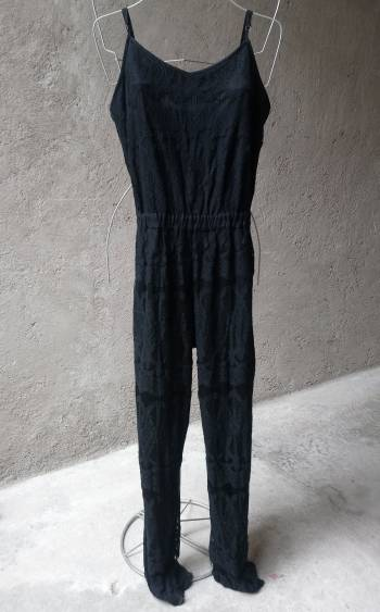 Foto Carousel Producto: Mono Jumpsuit enterizo negro encaje M GoTrendier