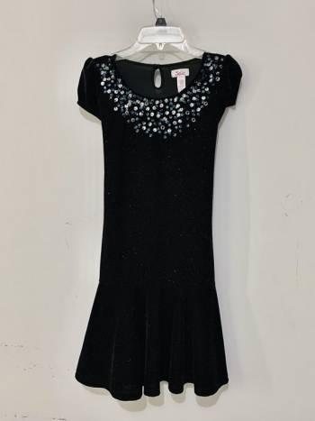 Foto Carousel Producto: Vestido negro con brillos para niña GoTrendier